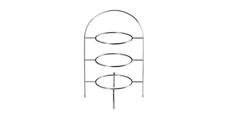Etagere »à table Etagere Gestell 3stufig Ø 21 cm«, Edelstahl