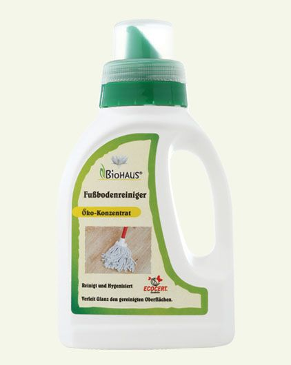 The BioHaus Floor Cleaner is ideal for cleaning and sanitizing wooden floors, sandstone, parquet and linoleum: http://lifecare.eu.com/product/biohaus-bio-floor-cleaner/.