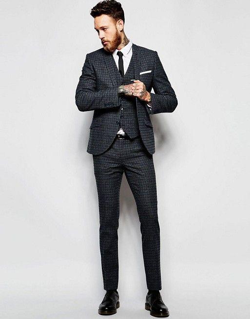 Heart & Dagger Grey Suit in Super Skinny Fit