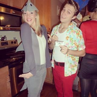 Ace Ventura and Snowflake the dolphin. | 50 Couple Costume Ideas To Steal This Halloween