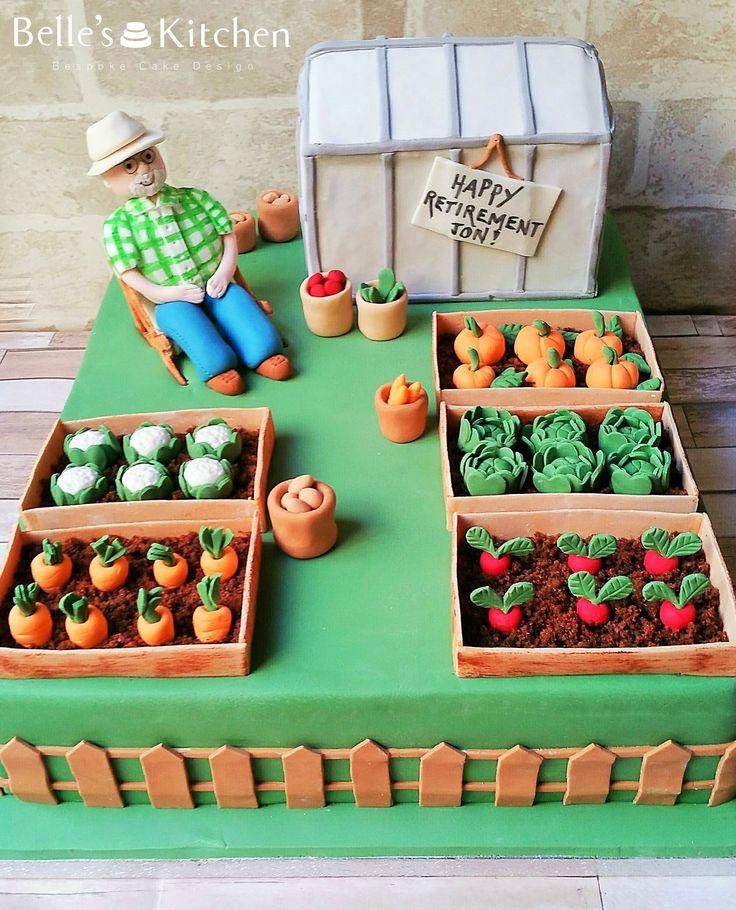 Allotment Retirement Cake #cake #allotment #allotmentcake #retirementcake
