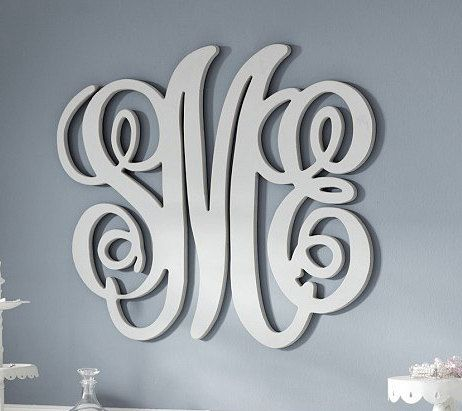 monogram wooden letters painted wood monogram initials wall decor hanging wooden 23687 | acc12e5317c9e6a7fc7537623d8b5d10 pottery barn kids baby rooms