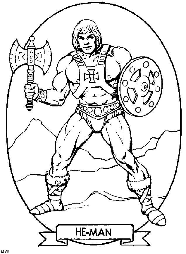 He-Man coloring page | He-Man and the Masters of the ...
