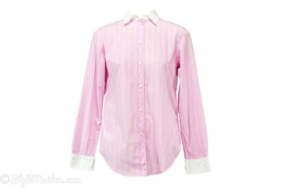 GAP Pink Striped Fitted Button Down Shirt Size 8 at http://stylemaiden.com