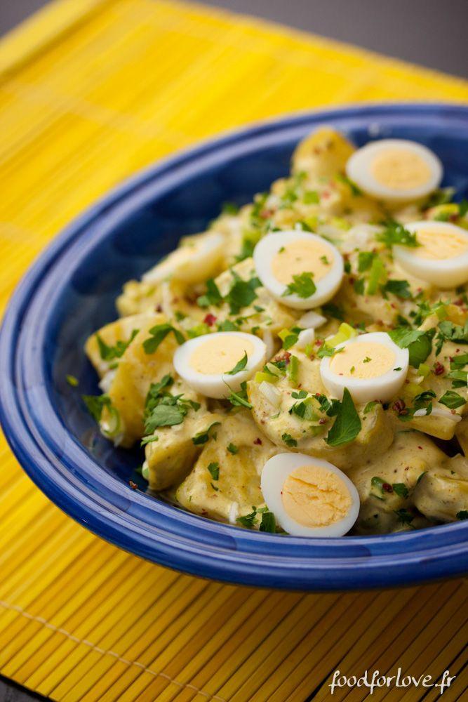 Salade de Pommes de Terre à l'Indienne   http://www.foodforlove.fr/