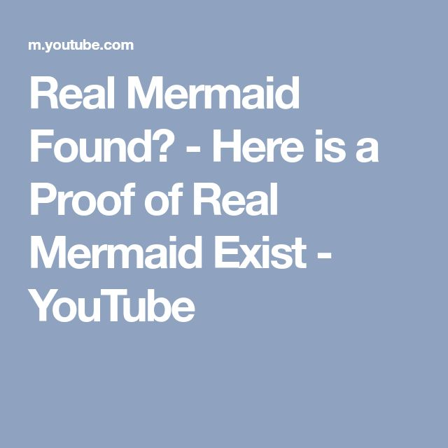 Real Mermaid Found? - Here is a Proof of Real Mermaid Exist - YouTube