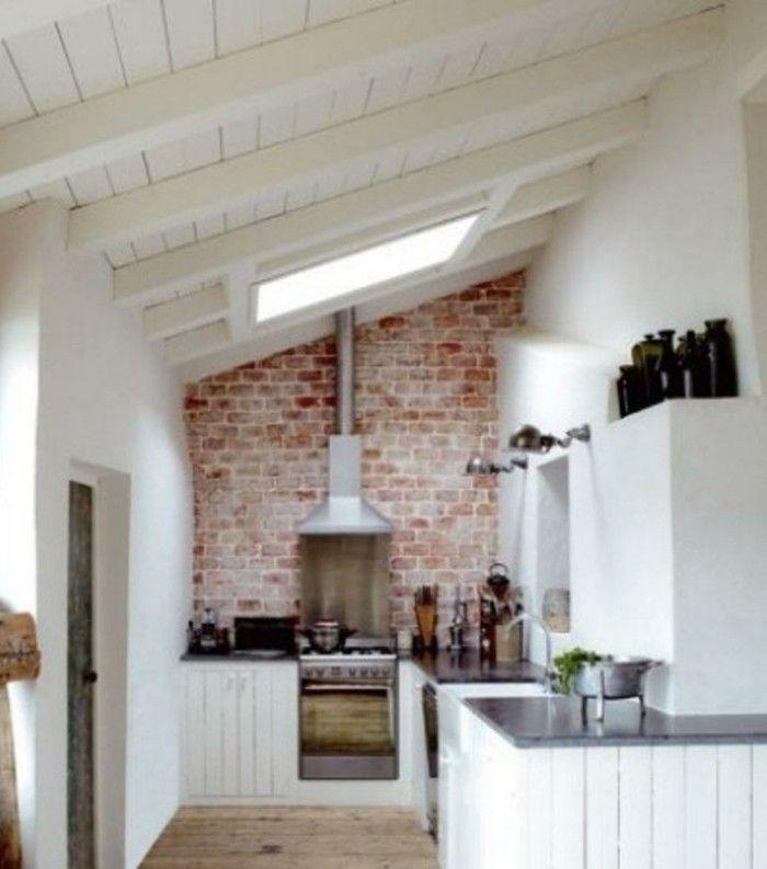 Mer enn 25 Bra ideer om Kücheneinrichtung Dachschräge på Pinterest - kleine küche dachschräge
