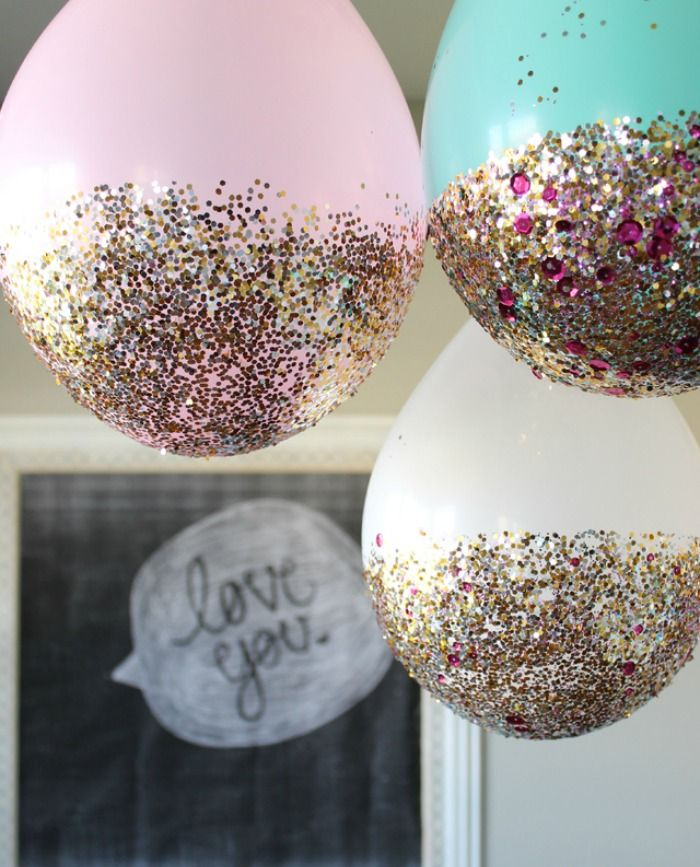 Glitter Balloons Party Idea For New Years Eve