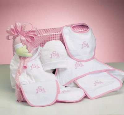28 best girls baby gift baskets images on pinterest baby girl newborn baby boys personalized layette gift set by baby gifts n treasures negle Gallery