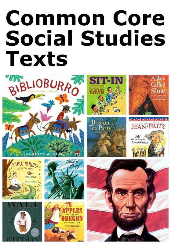 A helpful list of engaging and illustrated social studies texts aligned to the CCSS. Younger grades.