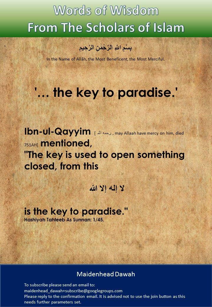 """... the key to paradise."""