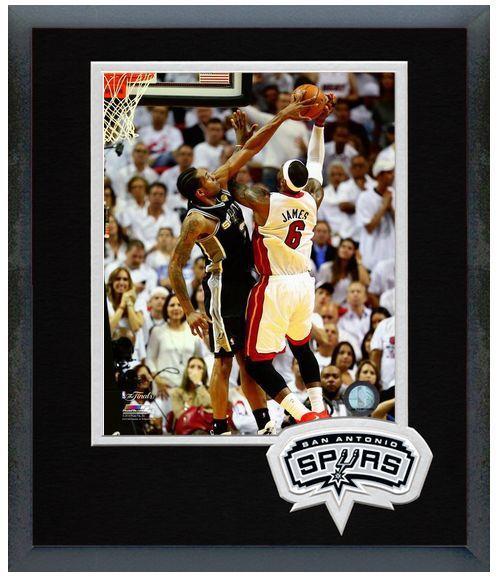 Kawhi Leonard Spurs Game 4 2014 NBA Finals-11 x 14 Team Logo Matted/Framed Photo