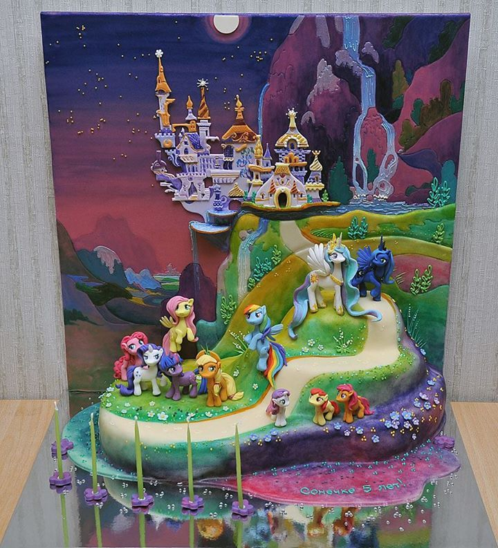 My Little Pony cake, by Russian cake artist Jane Zubova of Artcake.ru.