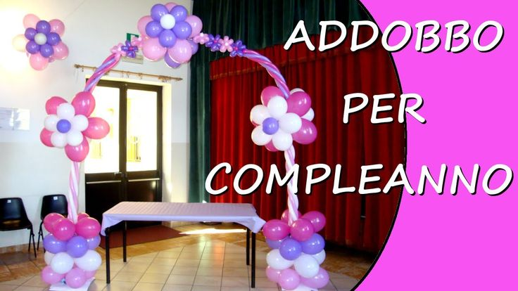 Decorate with balloons for a birthday party #birthday
