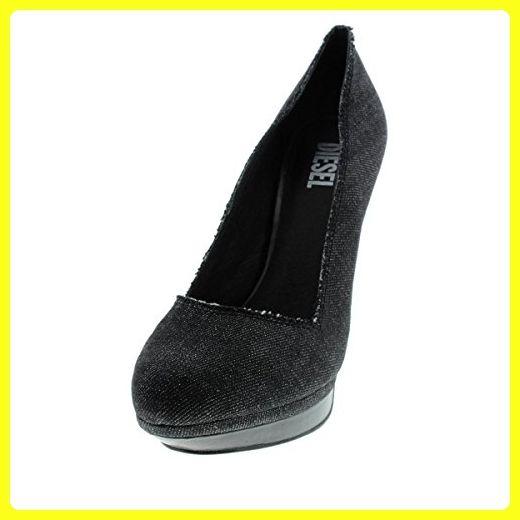 Diesel Womens Melrose Ashly Denim Pumps Platform Heels Black 7.5