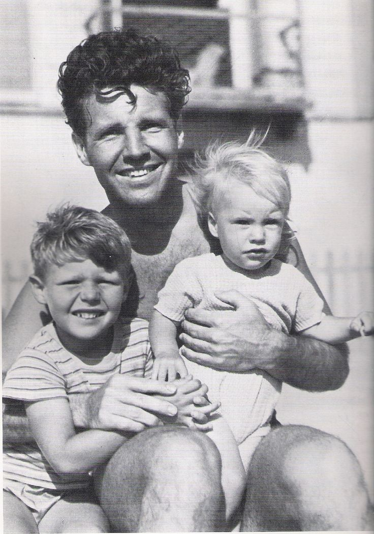 Ricky and David Nelson with their dad Ozzie - 1941/No longer with us/