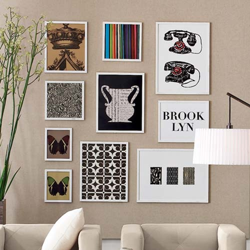 Eclectic wall art arrangement beautiful design pinterest Painting arrangements on wall