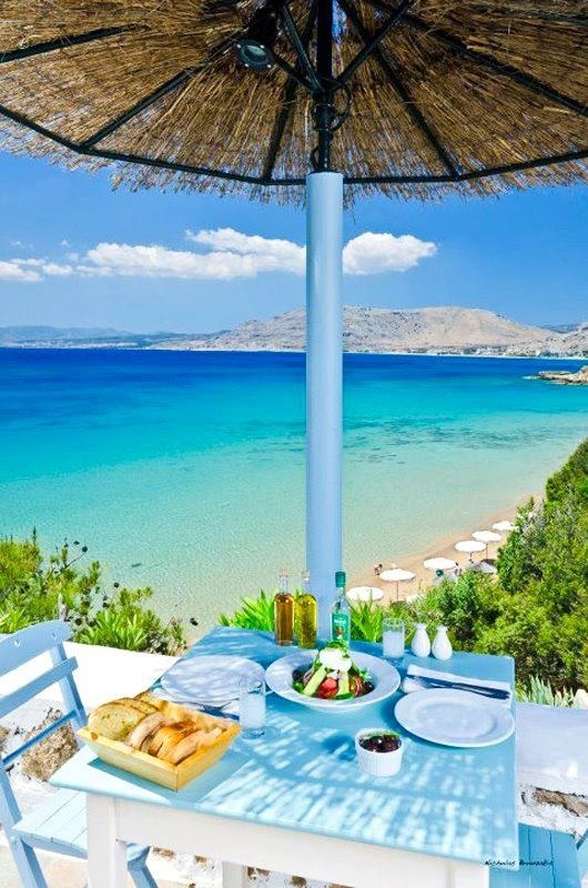 Lunch By the Sea | Rhodes, Greece