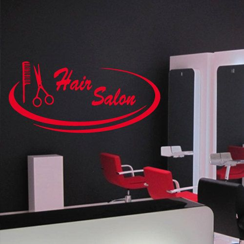 Wall decal decor decals art hair salon beauty by - Stickers deco salon ...