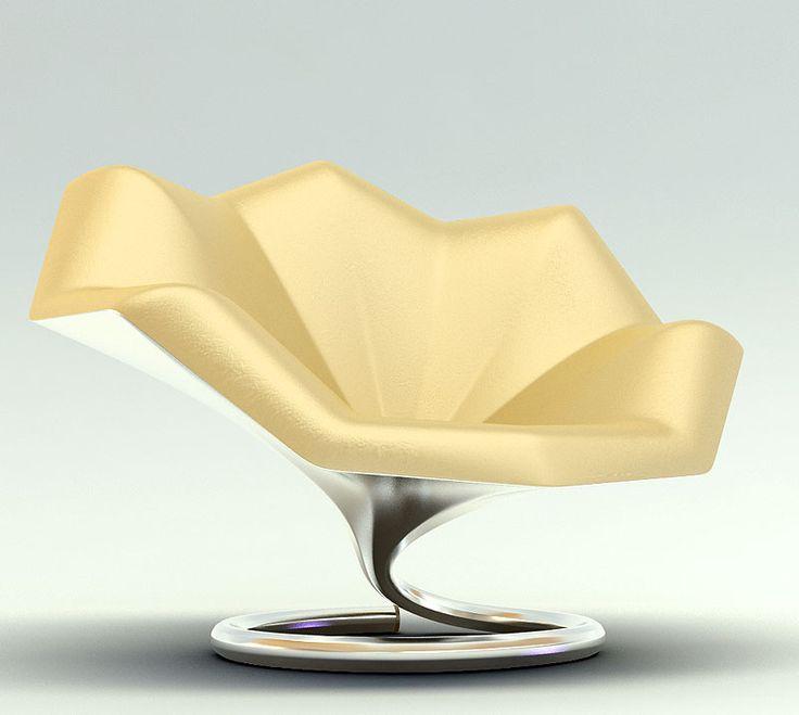 Yellow Gramophone Chair
