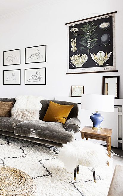 Mix ethnic et vintage  These genius Feng Shui tips transformed my tiny apartment | Small space decorating ideas | Art on the walls