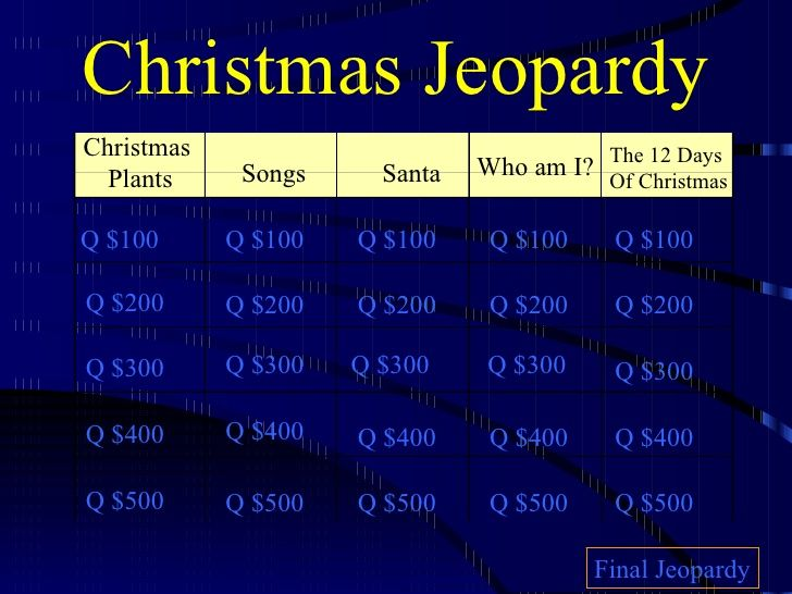 Christmas Jeopardy 2