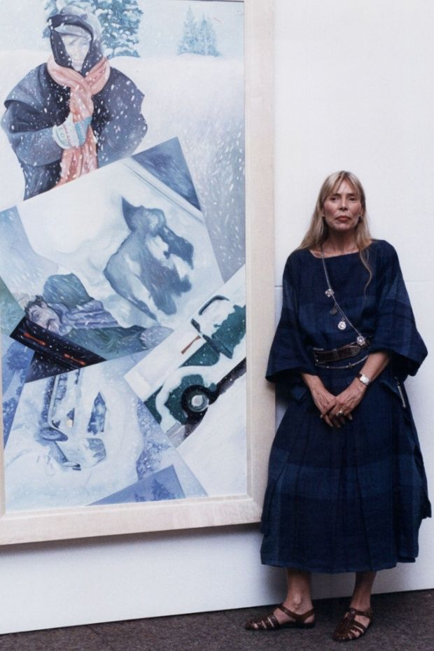 Joni Mitchell: the sophistication of her music sets her apart from her peers – even Dylan // Joni Mitchell at the Rotunda Gallery in Broad Street London, 1990.