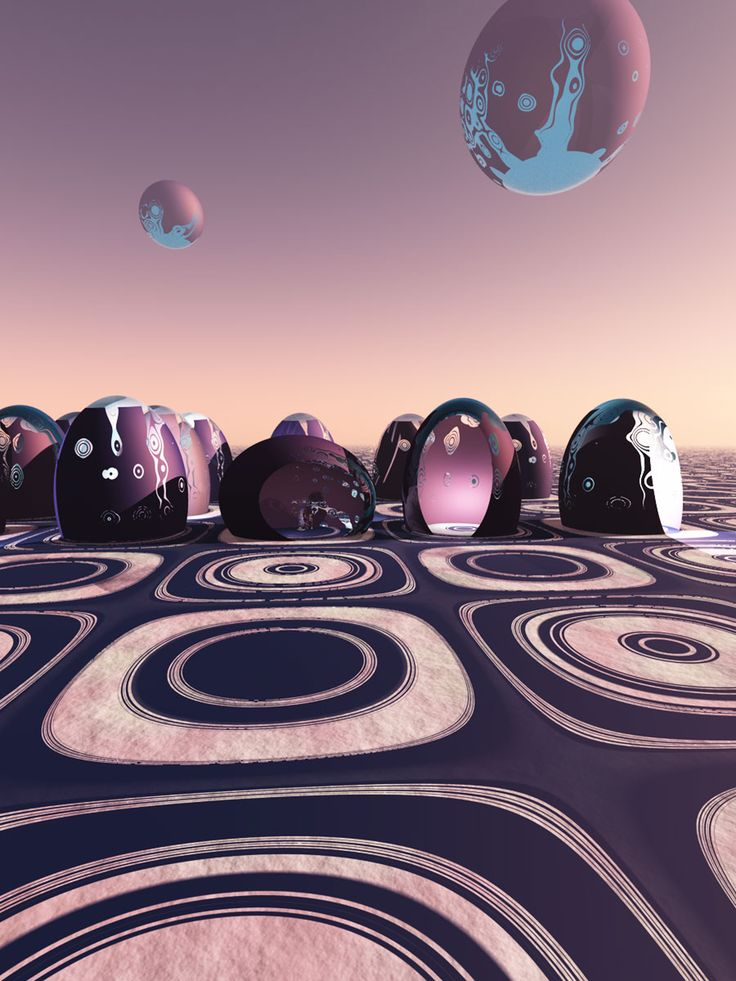 Domes,3d digital art,Cate Macgowan