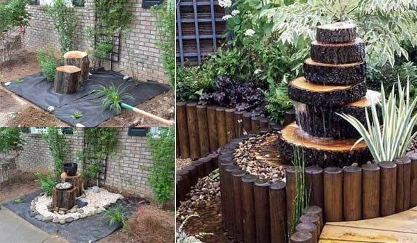 11 Idees Fraiches Pour La Decoration De Votre Jardin Avec Buches