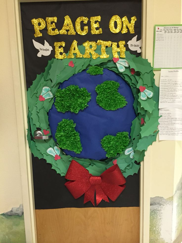 Peace On Earth Christmas Classroom Door Christmas