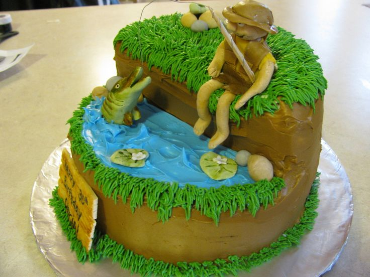 1000 images about fishing cakes on pinterest gone for Fishing cake decorations