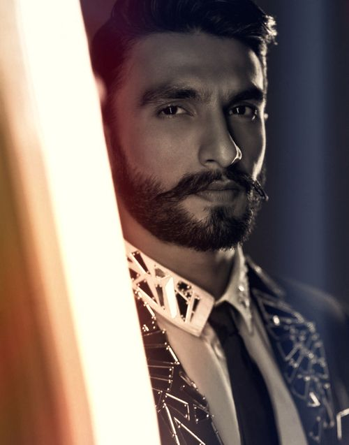 Ranveer Singh - I love his hair, moustache and beard.