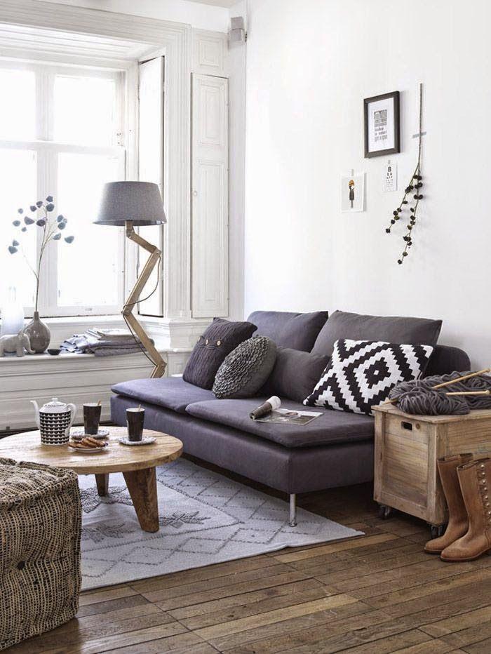 Small living room with grey sofa | Daily Dream Decor