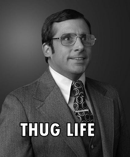 """""""I'm Brick Tamland. People seem to like me because I am polite and rarely late. I like to eat ice cream and I really enjoy a nice pair of slacks. Years later, a doctor will tell me that I have an I.Q. of 48 and am what some people call mentally retarded."""""""