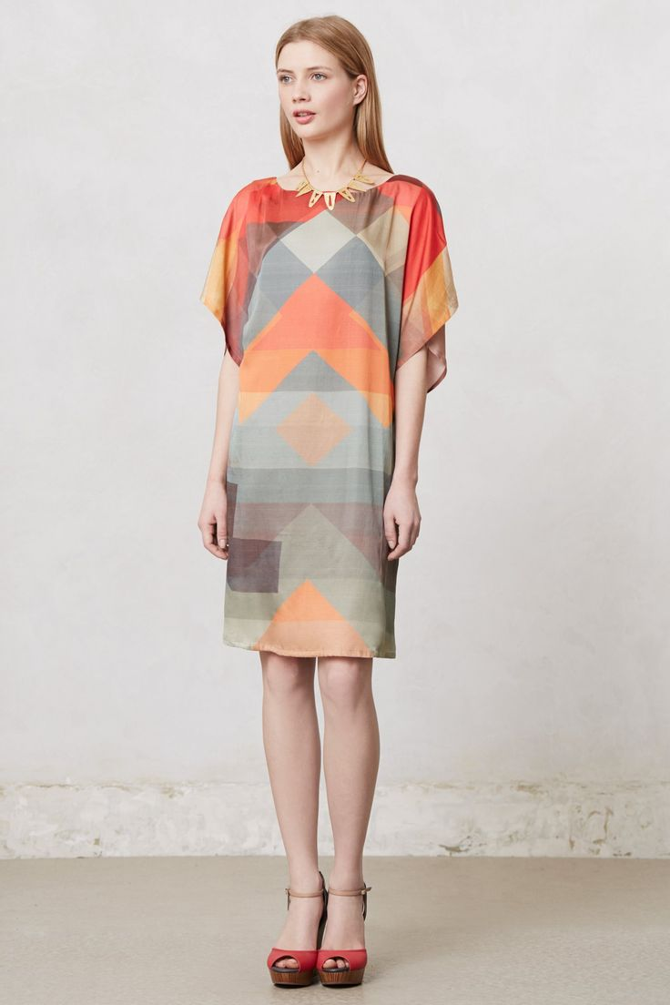 Abstracted Rays Tunic Dress