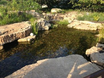 Aquascape ecosystem waterfall pond installation shedd for Backyard pond installation