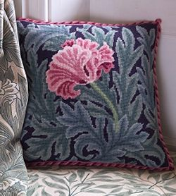 William Morris Needlepoint Designs | Beth Russell Needlepoint William Morris Tulip Cushion BR/WMTC
