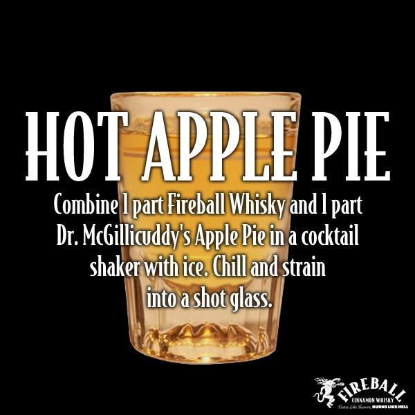 fireball hot apple pie