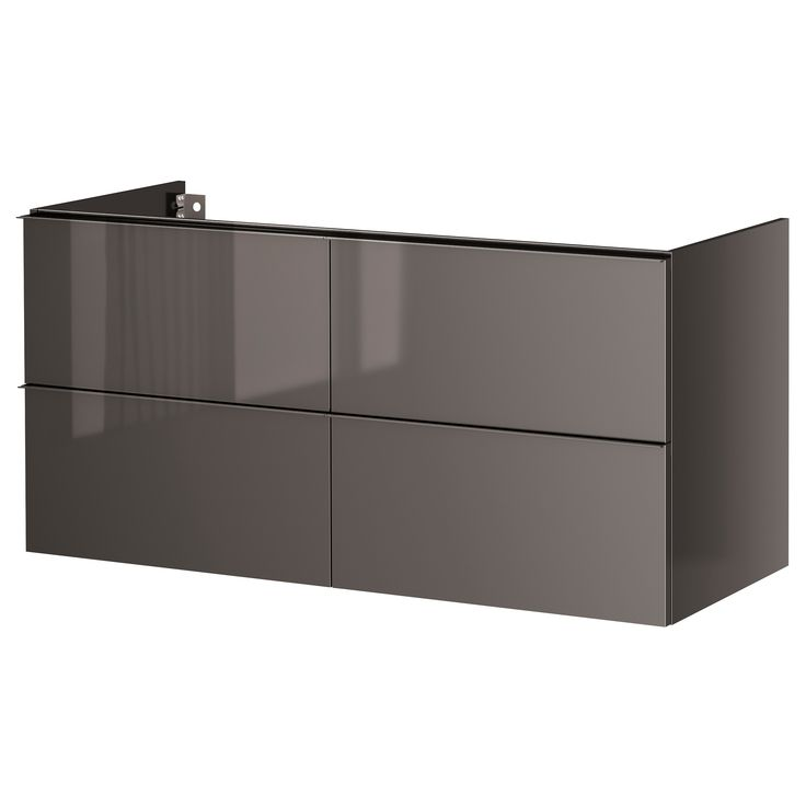 Ikea Grundtal Glass Bathroom Shelf ~   Gray for Office on Pinterest  Cabinet drawers, Ikea bathroom and Gray