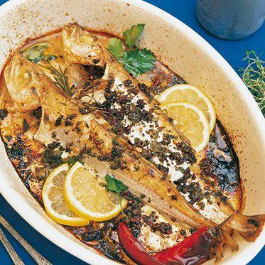 Fisch italienischer Art aus dem Ofen
