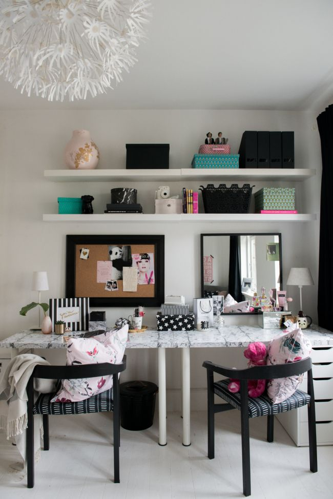 Teen Bedroom Makeover Diy Teen Desk And Vanity Click Through For A Video