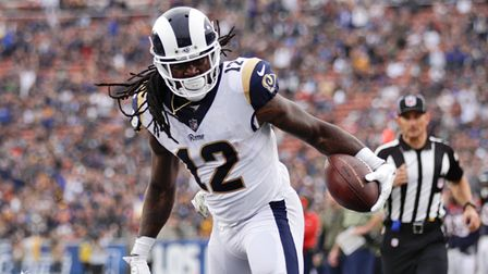 Los Angeles Rams wide receiver Sammy Watkins finds the end zone for a 17-yard touchdown.