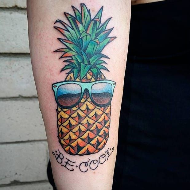 Pineapple tattoo by Alex Coulter. fruit pineapple shades AlexCoulter