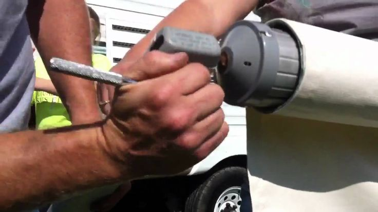 Replacing the awning fabric on an A&E model 8500 RV awning. (Part 2) By ...