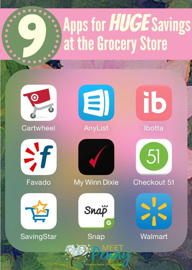 Want to save HUGE money at the grocery store? Check out these 9 Apps to Save Money at the Grocery Store. GUARANTEED to put more money in your pocket!