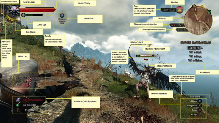 Witcher 3 HUD
