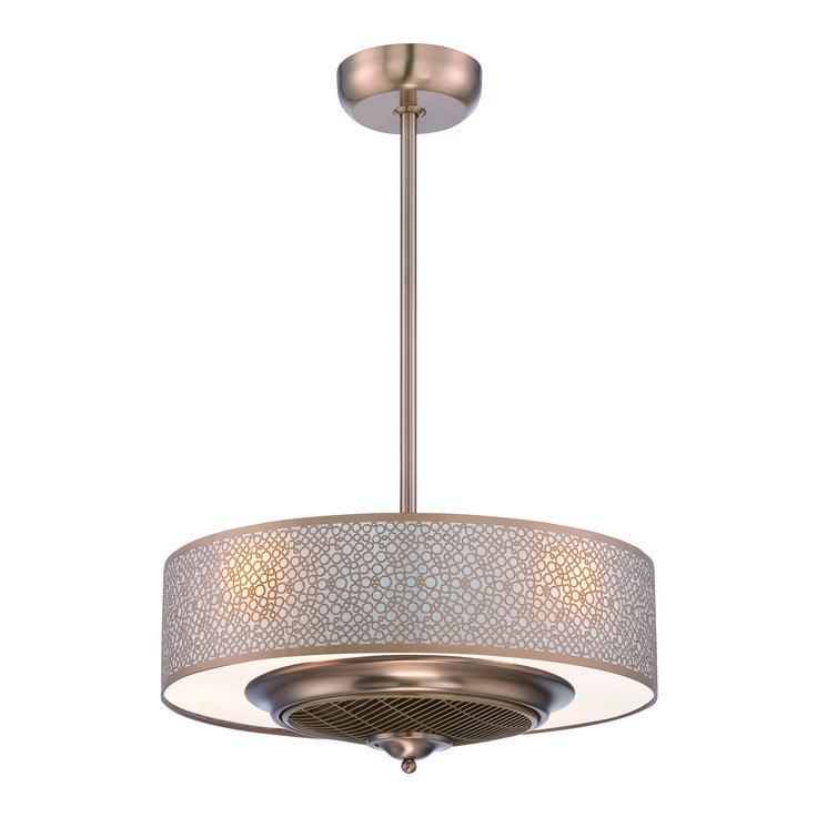 Image result for brushed gold hidden ceiling fan master - Ceiling fan with light for bedroom ...