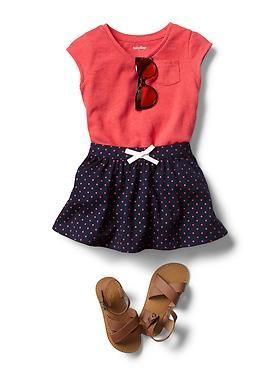 Baby Clothing: Toddler Girl Clothing: Featured Outfits Skirts & Shorts | Gap http://www.pinterest.com/ahaishopping/ #babygirlskirts