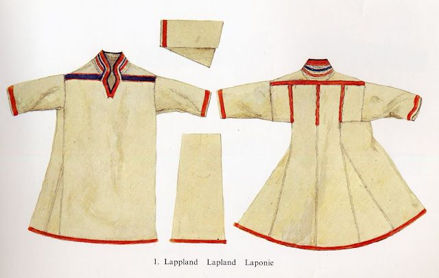 This is a modern Saami man's garment, place of origin unspecified. Note the similarities to Viking Age Norse clothing.