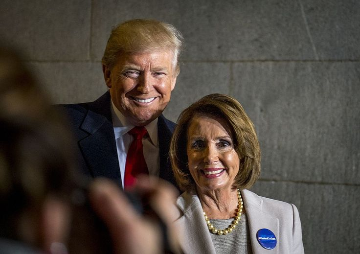 President elect Donald J. Trump and House Minority Leader Nancy Pelosi, January 20, 2017..no love lost there.